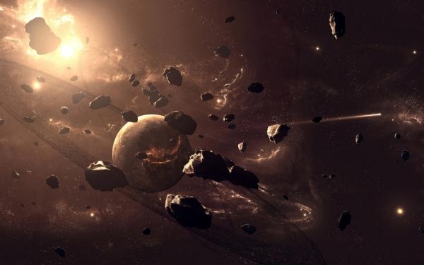 взгляд художника на скопление астероидов (spaceon.ru)