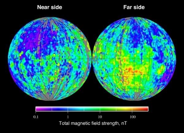 Карта магнитного поля Луны (wikipedia.org)