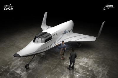 Суборбитальный самолет на земле (Изображение — xcor.com)