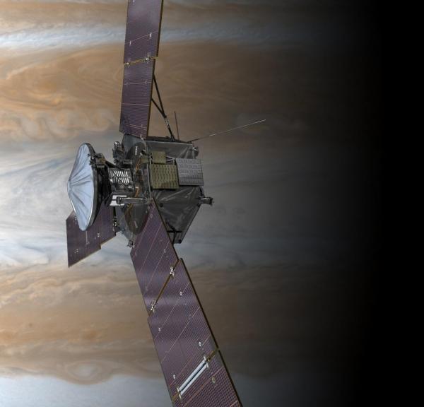 Взгляд художника на зонд Джуно (space.com)