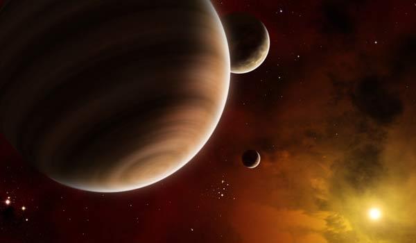 Взгляд художника на экзопланету в молодой звездной системе, еще полной газа (lifeslittlemysteries.com)