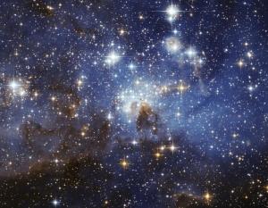 Зона образования звезд в близлежащей галактике, снимок сделан телескопом Хаббл (csiro.au)