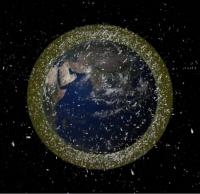 Плотность мусора на орбитах около Земли (space.com)