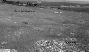 Панорама, полученная навигационной камерой Оппортюнити 9 августа (space.com)