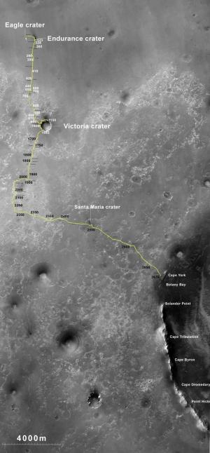 Путь марсохода (space.com)