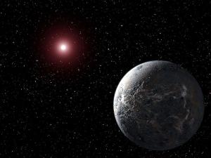 Планета OGLE-2005-BLG-390Lb (температура около −220 °C). Планета находится на расстоянии 20 000 световых лет от Земли (wikipedia.org)