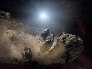 Взгляд художника на разрушение астероида (nasa.gov)
