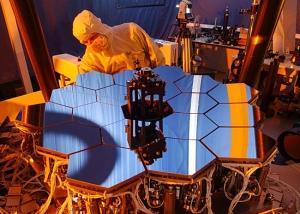 Модель зеркал телескопа Джеймса Уэбба (space.com)