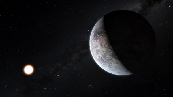 Взгляд художника на экзопланету HD 85512b, похожую на Землю (space.com)