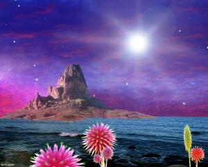 Так художник смотрит на последние моменты планеты, к которой приближаются лучи сверхновой (space.com)