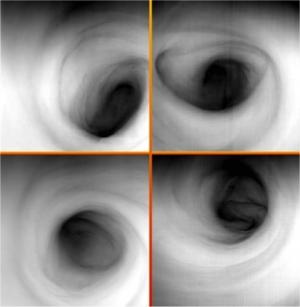 Инфракрасное изображение вихрей на южном полюсе Венеры (nasa.gov)