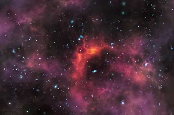 Может, так выглядели галактики на исходе эры реионизации? (eso.org)