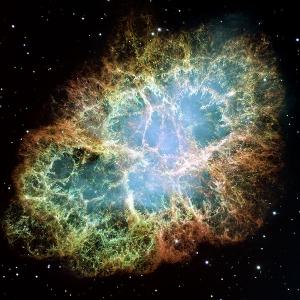 Крабовидная туманность - результат вспышки сверхновой. В ходе этого процесса близлежащие звездные системы обогащаются материалом бывшей звезды (wikipedia.org)