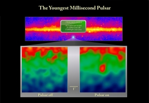 Наблюдения Ферми за пульсаром когда он излучает и не излучает (space.com)