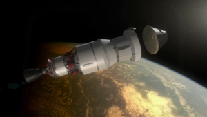 Капсула Орион в космосе: спускаемый модуль отделяется от аппарата (space.com)