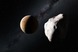 Может быть, такой пролет выкинул Лютецию из внутренней Солнечной системы? (eso.org)