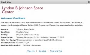 Скриншот объявления (USAJobs.gov)