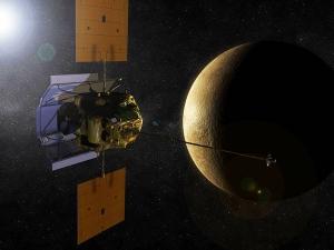 MESSENGER на орбите, взгляд художника (wikipedia.org)