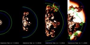 Распространение фронта горения, справа начинается взрыв (sciencedaily.com)