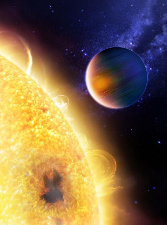 Взгляд художника на газовый гигант HD 189733 b (wikipedia.org)