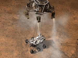 Схема посадки марсохода (space.com)