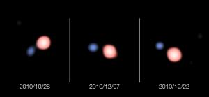 Изображения двойной звезды (eso.org)