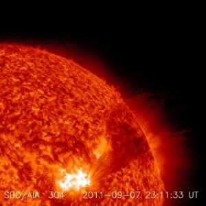 Мощнейшая вспышка (категории Х) 7-8 сентября этого года (space.com)
