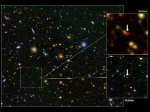 Изображения галактики, полученные Спитцером и Хабблом (nasa.gov)