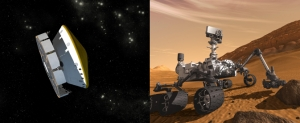 Марсоход и аппарат, внутри которого он летит к Марсу (nasa.gov)